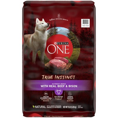 Purina ONE True Instinct Beef & Bison Dry Dog Food - 15lbs