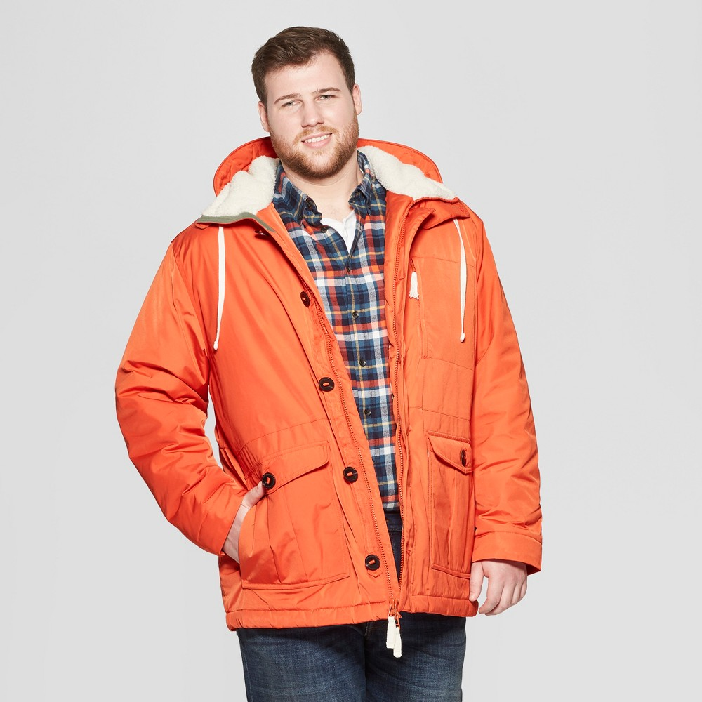 Men's Big & Tall Parka Jacket - Goodfellow & Co Orange 3XBT
