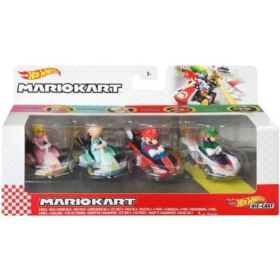 Hot Wheels Mario Kart Diecast - 4 pk