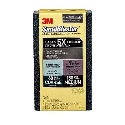 3M Company 60/150grit Dual Grit Sandblaster Sanding Sponge Coarse/Medium