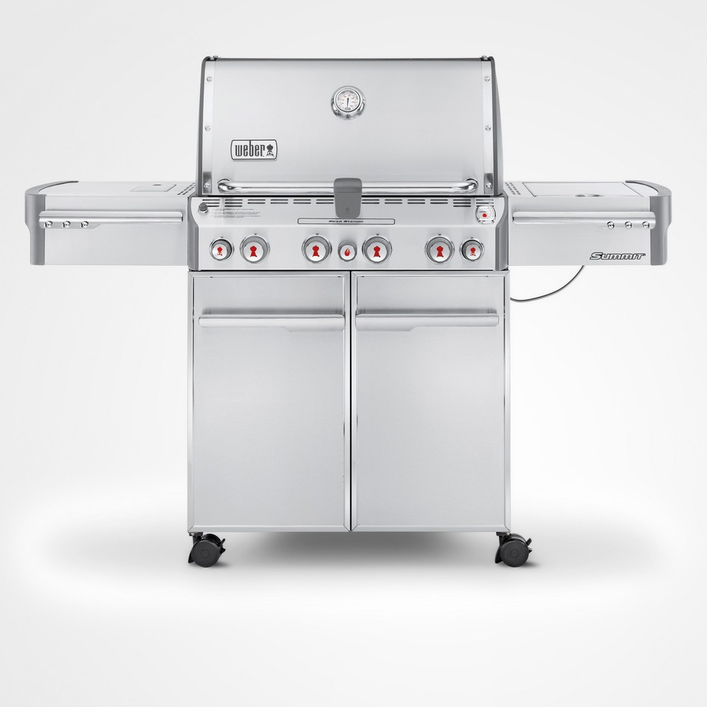 Weber Summit S-470 LP Gas Grill, Silver 14998384