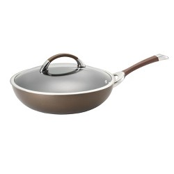 Circulon Symmetry 12 Inch Covered Essential Pan - Chocolate