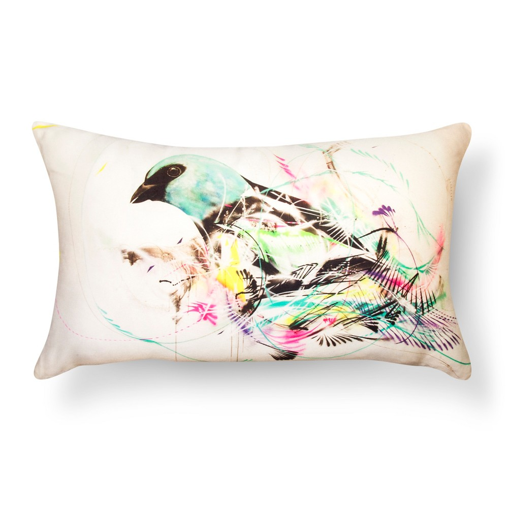 "Image of ""Artwork Series: 'Blue Jay' by L7M Throw Pillow (12""""x20"""") - AiR"""