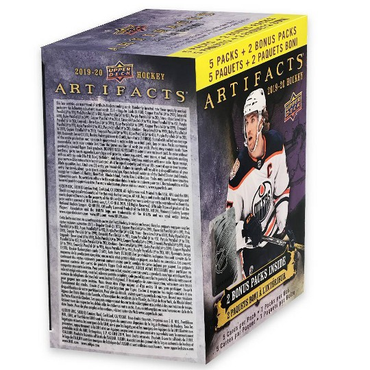 2019 NHL Artifacts Hockey Trading Card Blaster Box image number null