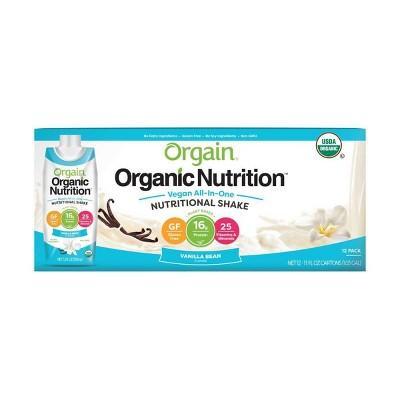Orgain Organic Vegan Protein Shake - Vanilla Bean - 12ct