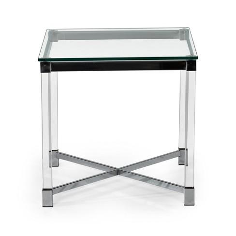 Talia End Table Acrylic Glass and Chrome - Steve Silver - image 1 of 3