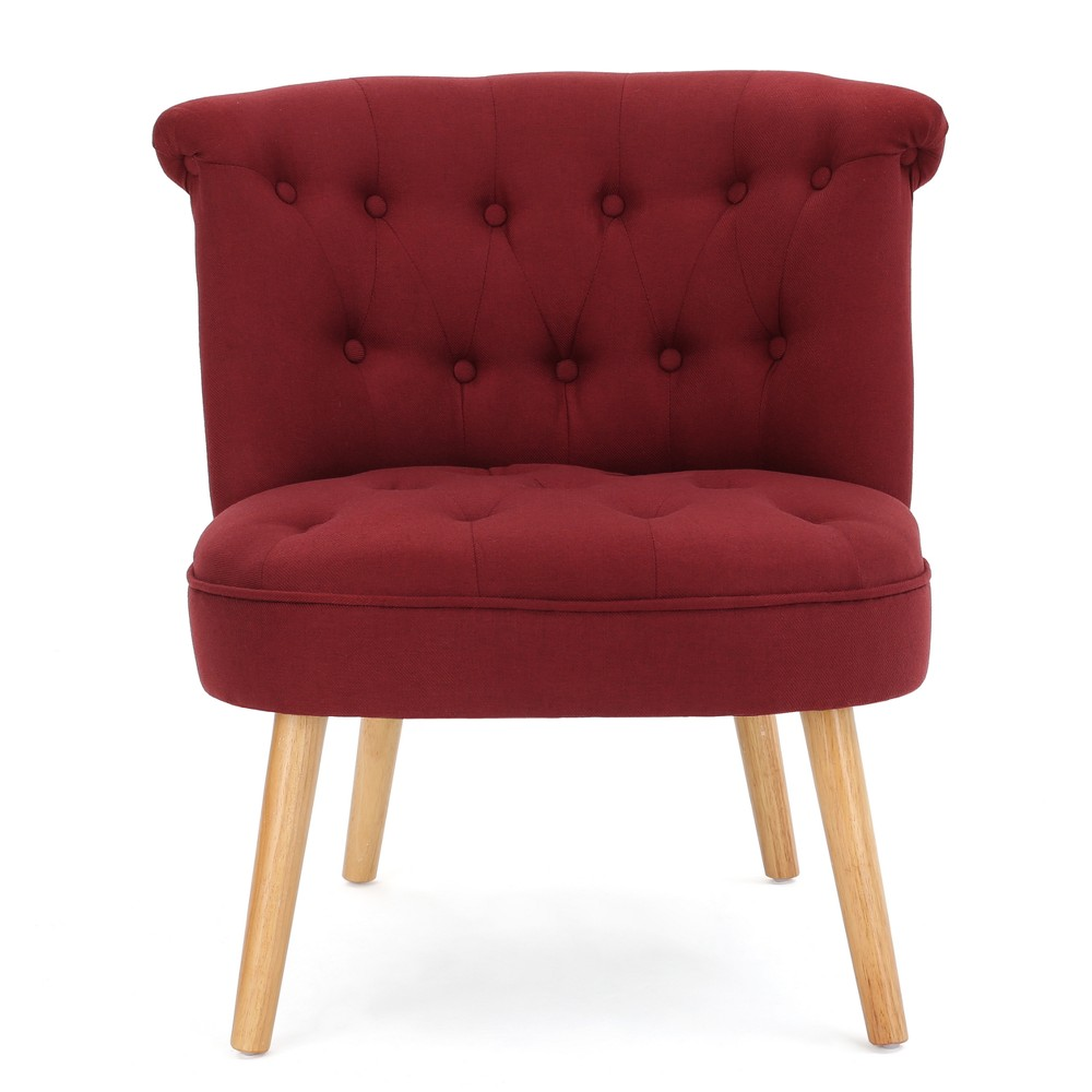 Cicely Tufted Accent Chair - Red - Christopher Knight Home, Deep Red