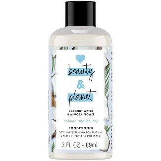 Love Beauty & Planet Coconut Water & Mimosa Flower Volume And Bounty Conditioner - 3 Fl Oz : Target