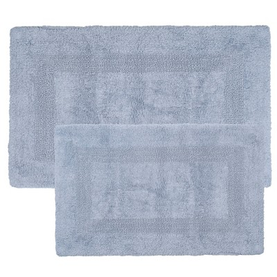 Solid Bath Mat 2pc Gray - Yorkshire Home