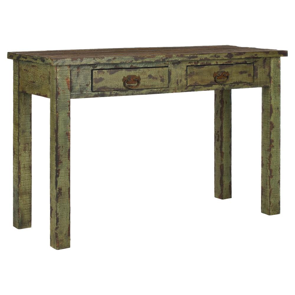 Carl Console Table Antique Green - Safavieh