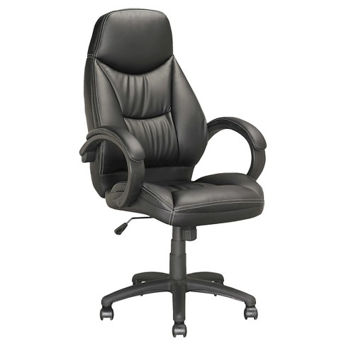 Workspace Executive Office Chair Leatherette Black - CorLiving - image 1 of 4