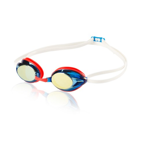 Speedo Adult Record Breaker Goggle - Blue/Red - image 1 of 1