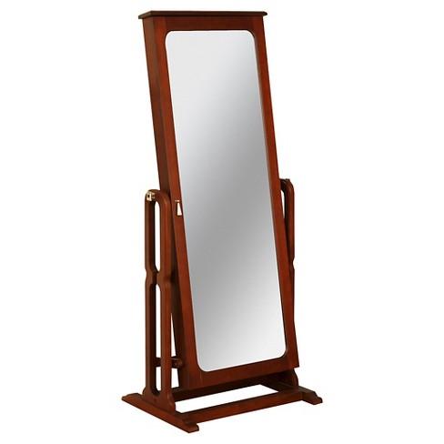 Malia Cheval Mirror/Jewelry Wardrobe Cherry - Powell Company - image 1 of 4