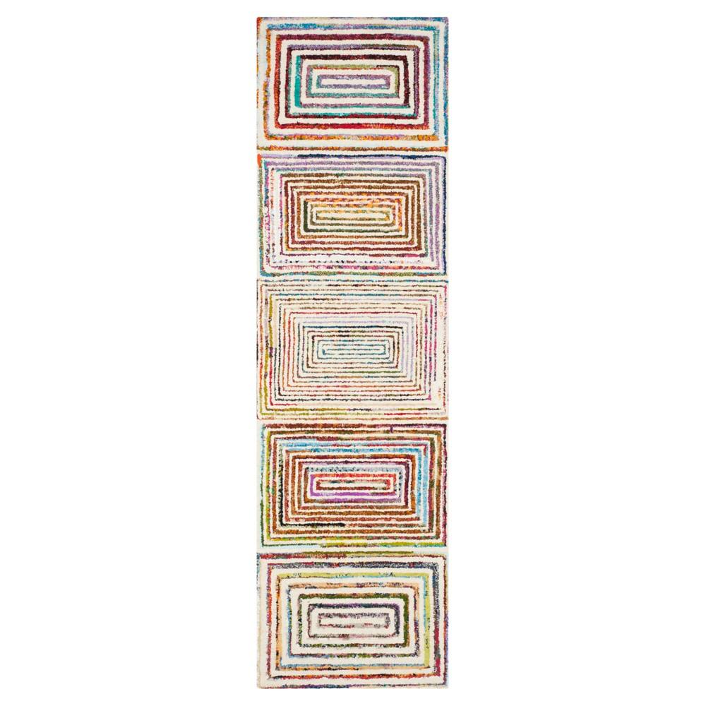 Ivory Abstract Tufted Runner - (2'3X6') - Safavieh, White
