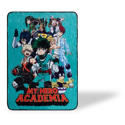 Just Funky My Hero Academia U.A. Academy Heroes Large Fleece Throw Blanket | 60 x 45 Inches