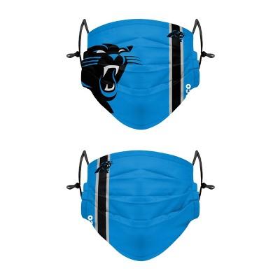 NFL Carolina Panthers Adult Gameday Adjustable Face Covering - 2pk