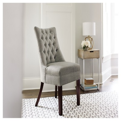 Charmant Winslow Tufted Back Chair   Gray   Threshold™ : Target
