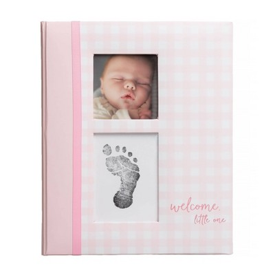 Pearhead Gingham Baby Memory Book - Pink