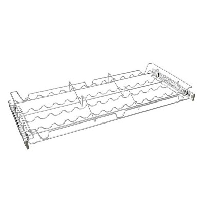 Rev-A-Shelf Sidelines 5WSCR-30CR-1 30 Inch Chrome Wire Pullout Sliding Spice or Can Organizer Rack Shelf for 14 Inch Deep Kitchen Pantry Cabinet