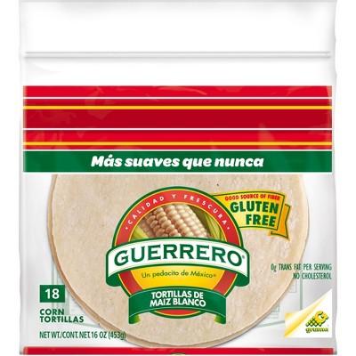 Guerrero Gluten Free White Corn Tortillas - 16oz/18ct