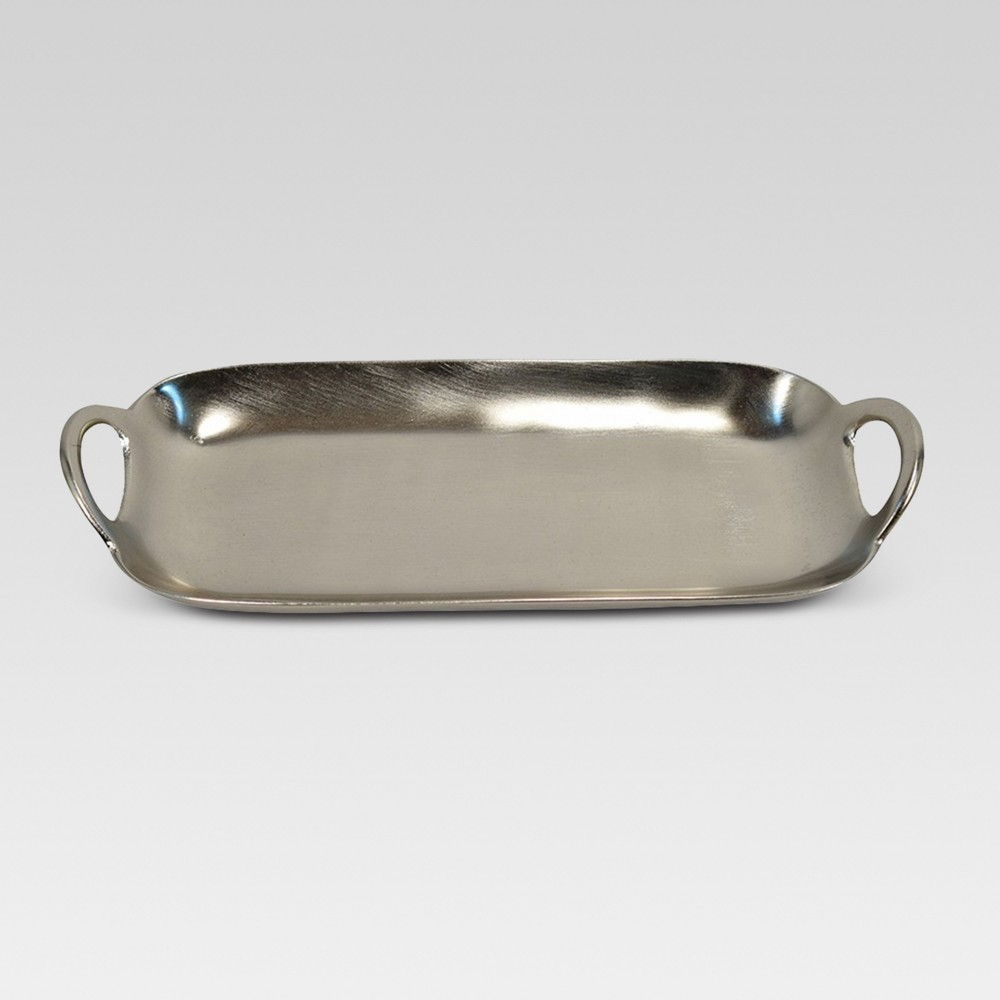 Oblong Metal Tray - Silver - Project 62