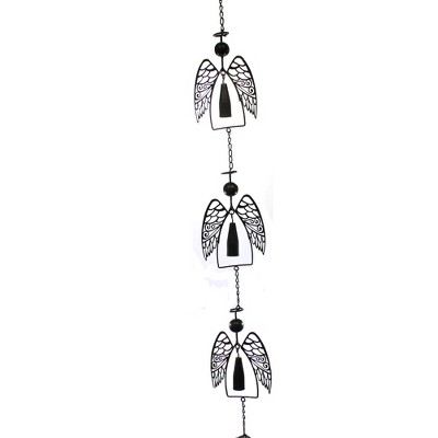 """Home & Garden 70.0"""" Angel Wind Chime Bell Wings Heavenly Ganz  -  Bells And Wind Chimes"""