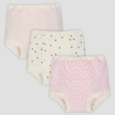 Gerber® Baby Girls' 3pk Training Pants - Pink/Cream 3T
