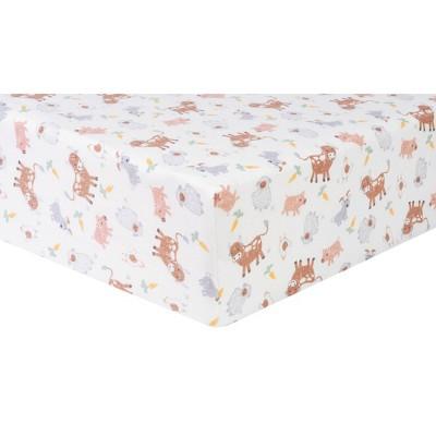 Trend Lab Farm Friends Flannel Fitted Crib Sheet
