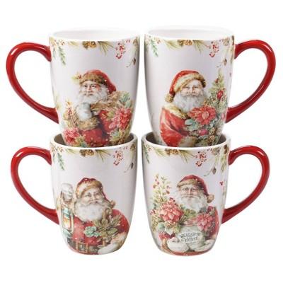 22oz 4pk Earthenware Christmas Story Mugs - Certified International