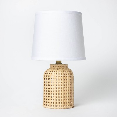 Cylinder Rattan Accent Lamp Brown - Threshold™