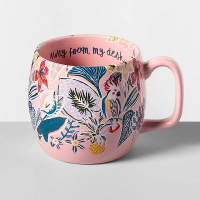 16oz Stoneware Away From My Desk Kira Mug Pink - Opalhouse™