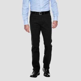 Haggar H26 Men's Slim Fit No Iron Stretch Trousers - Black 29x30