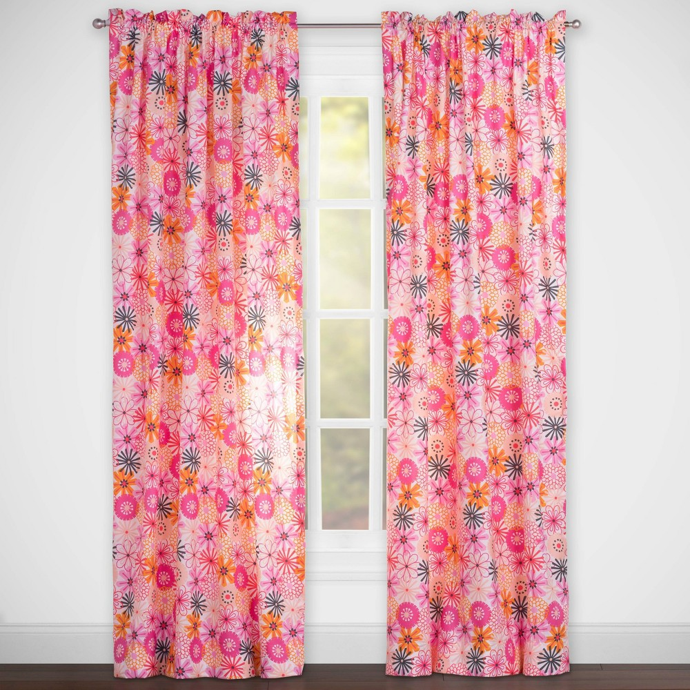 The Bloom Room Rod Pocket Curtain Panel Pink - Highlights
