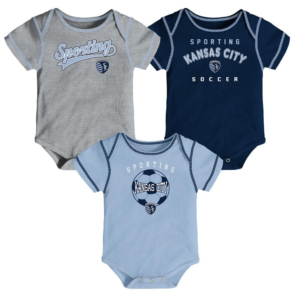 Mls Baby 3pk Onesies Sporting Kansas City 12m