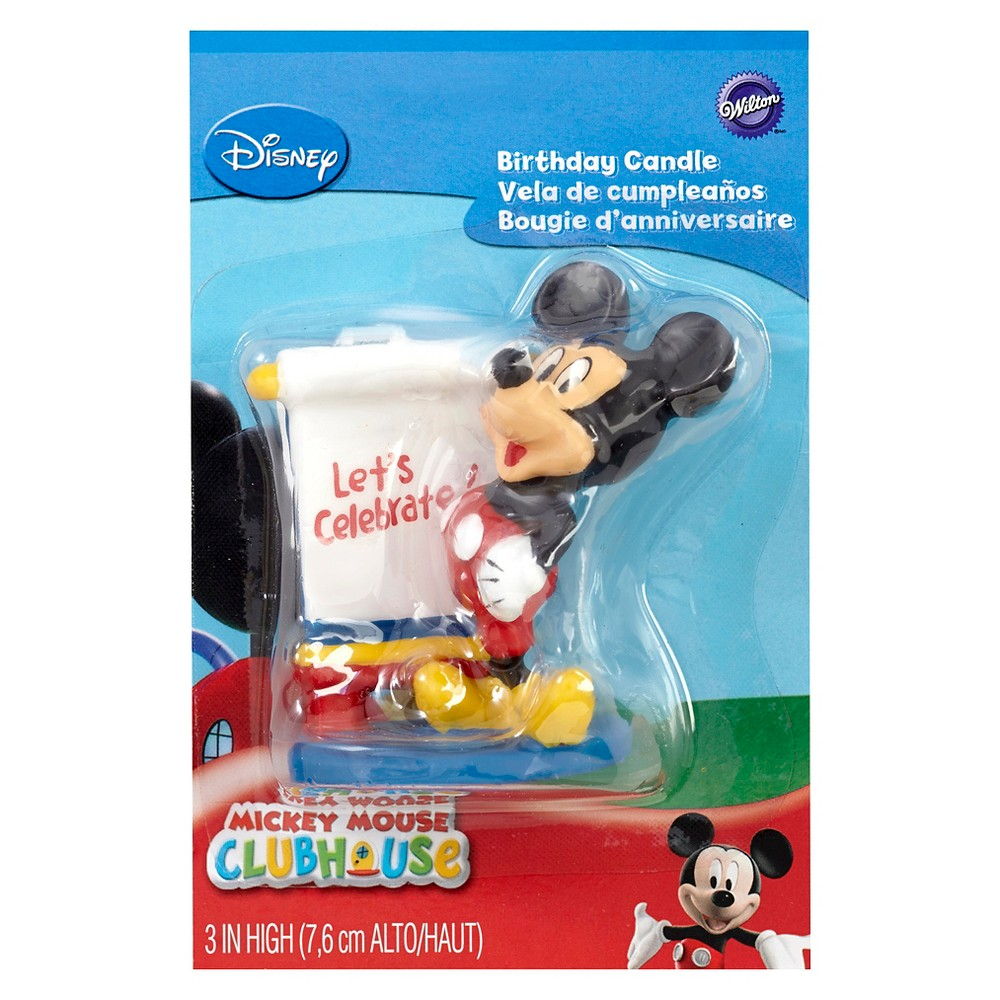 Wilton Disney Mickey Mouse Clubhouse Candle, Multi-Colored