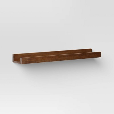 "23"" x 4.3"" Wood Ledge Wall Shelf Brown - Threshold™"