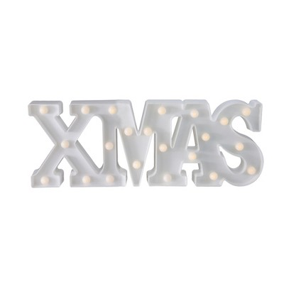 "Northlight 18.5"" Battery Operated LED Lighted ""XMAS"" Christmas Marquee Sign - Warm White"