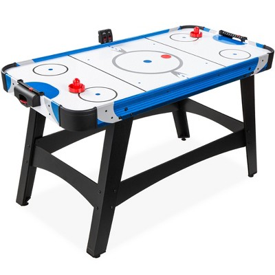 Best Choice Products 58in Mid-Size Air Hockey Table for Game Room w/ 2 Pucks, 2 Pushers, LED Score Board, 12V Motor