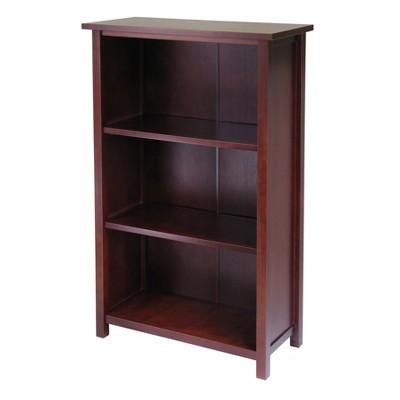 """42.99"""" 4 Tier Milan Storage Shelf or Bookshelf Medium Walnut - Winsome"""