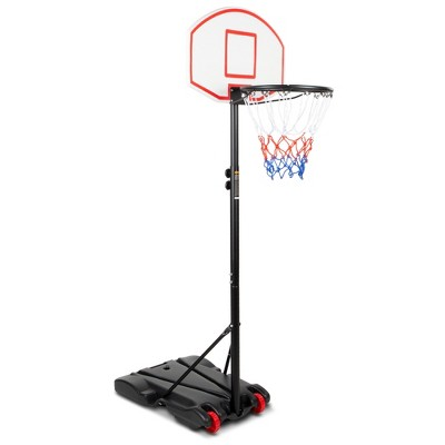 Best Choice Products Kids Height-Adjustable Basketball Hoop, Portable Backboard System Stand w/ Wheels - Multicolor