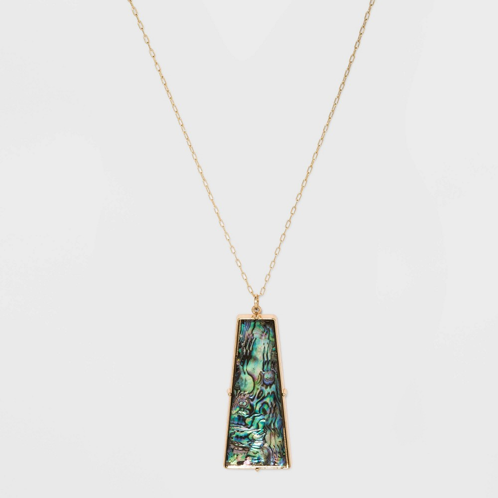 Image of Abalone Stone Pendant Necklace - A New Day Gold, Women's