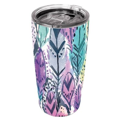 Artisan Stainless Steel Tumbler - Radiant Feathers
