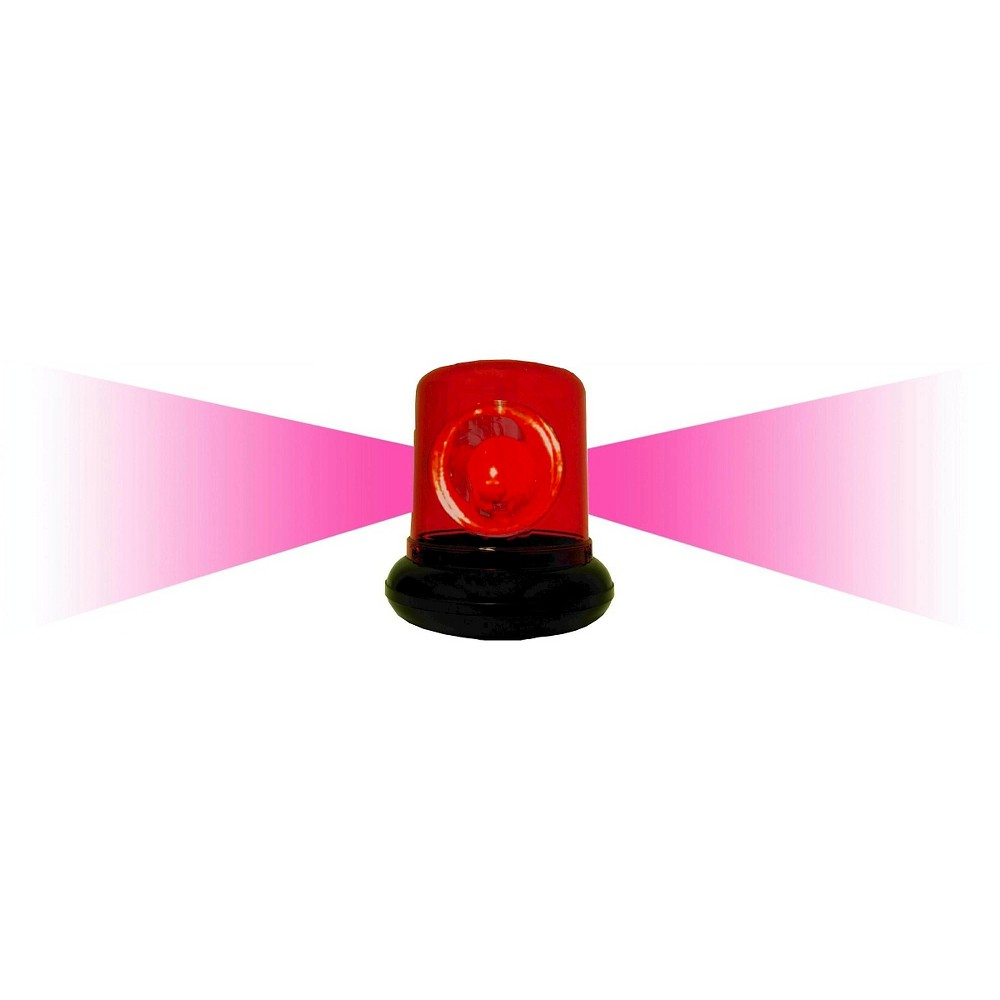 Creative Motions Police Beacon Light - Red, Red/Black