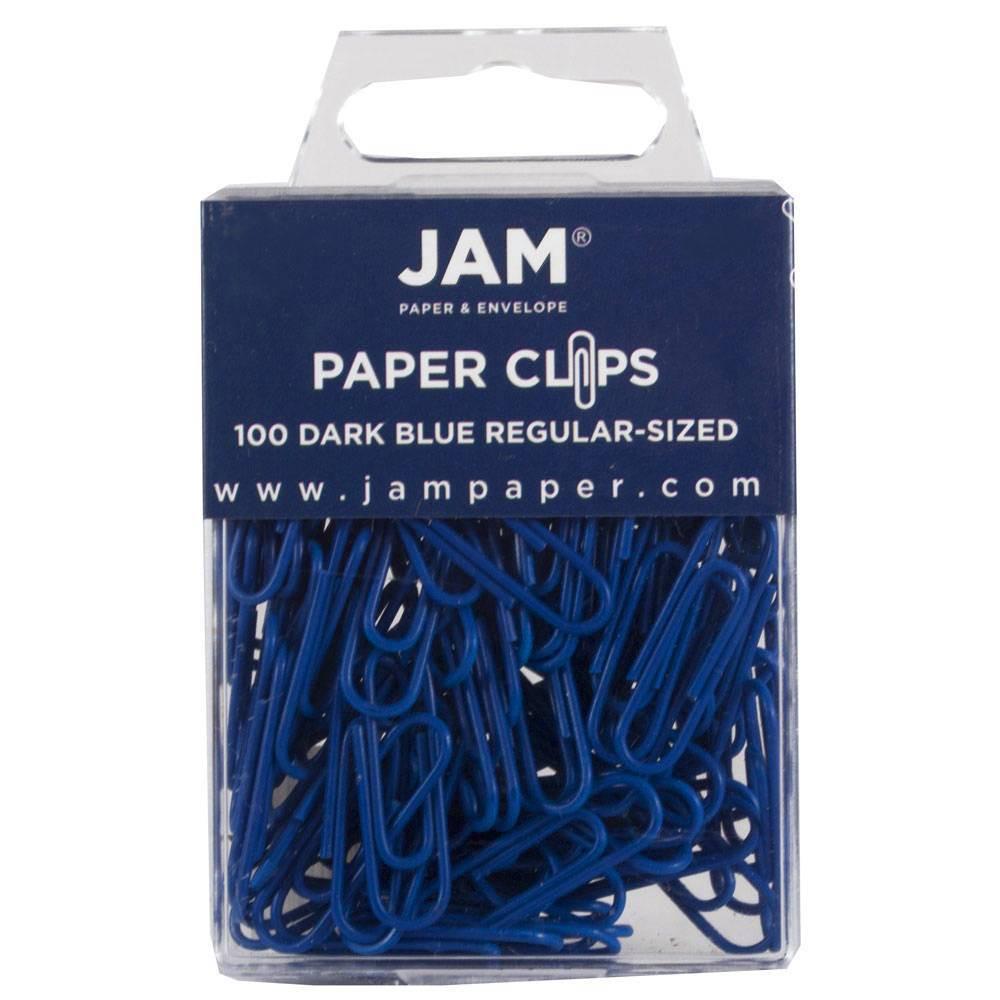 Best Buy Jam Paper 1 100pk Colorful Standard Paper Clips Regular Dark Blue