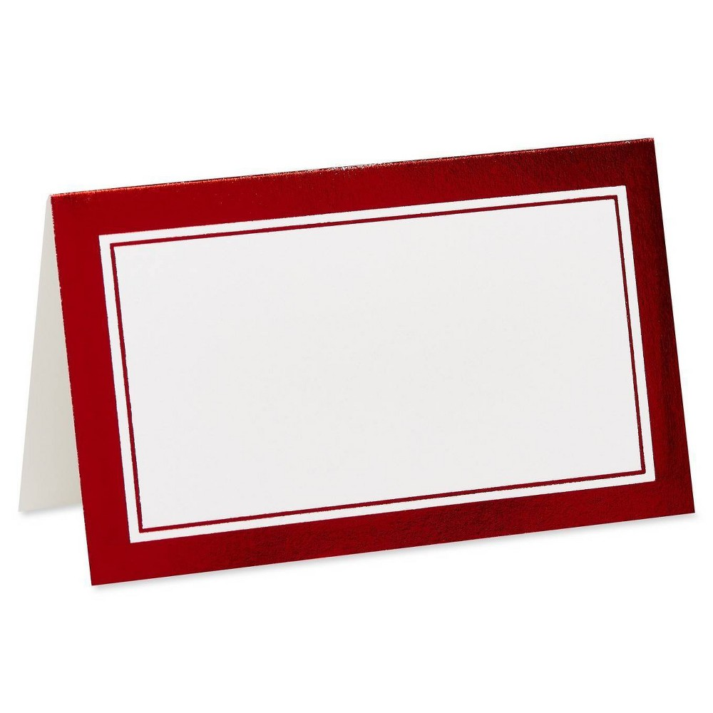 Image of 10ct Holiday Foil Frame Red - PAPYRUS