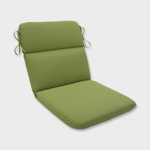 Colefax Pesto Rounded Corners Outdoor Chair Cushion Green - Pillow Perfect - image 1 of 1