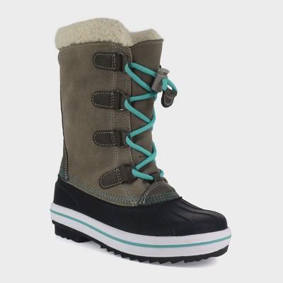 7481d40f98f Girls' Paloma Tall Sherpa Winter Boots – Cat & Jack™ Tan 13 – BrickSeek