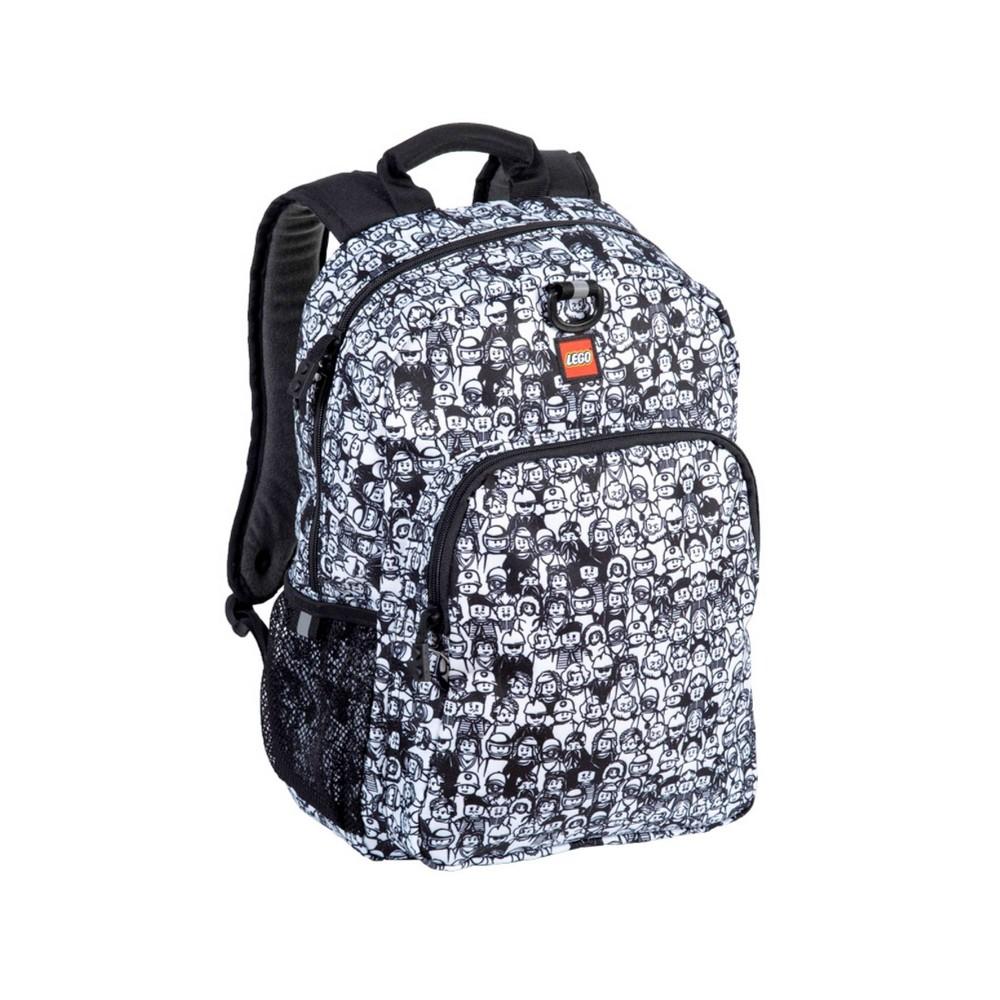 "Image of ""LEGO 16"""" Mini Figure Crowd Heritage Classic Backpack, MultiColored"""