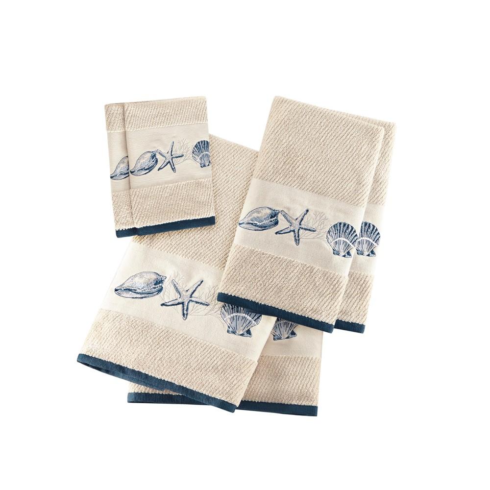 Image of 6pc Bath Towel Set Blue, bath towel and washcloth sets