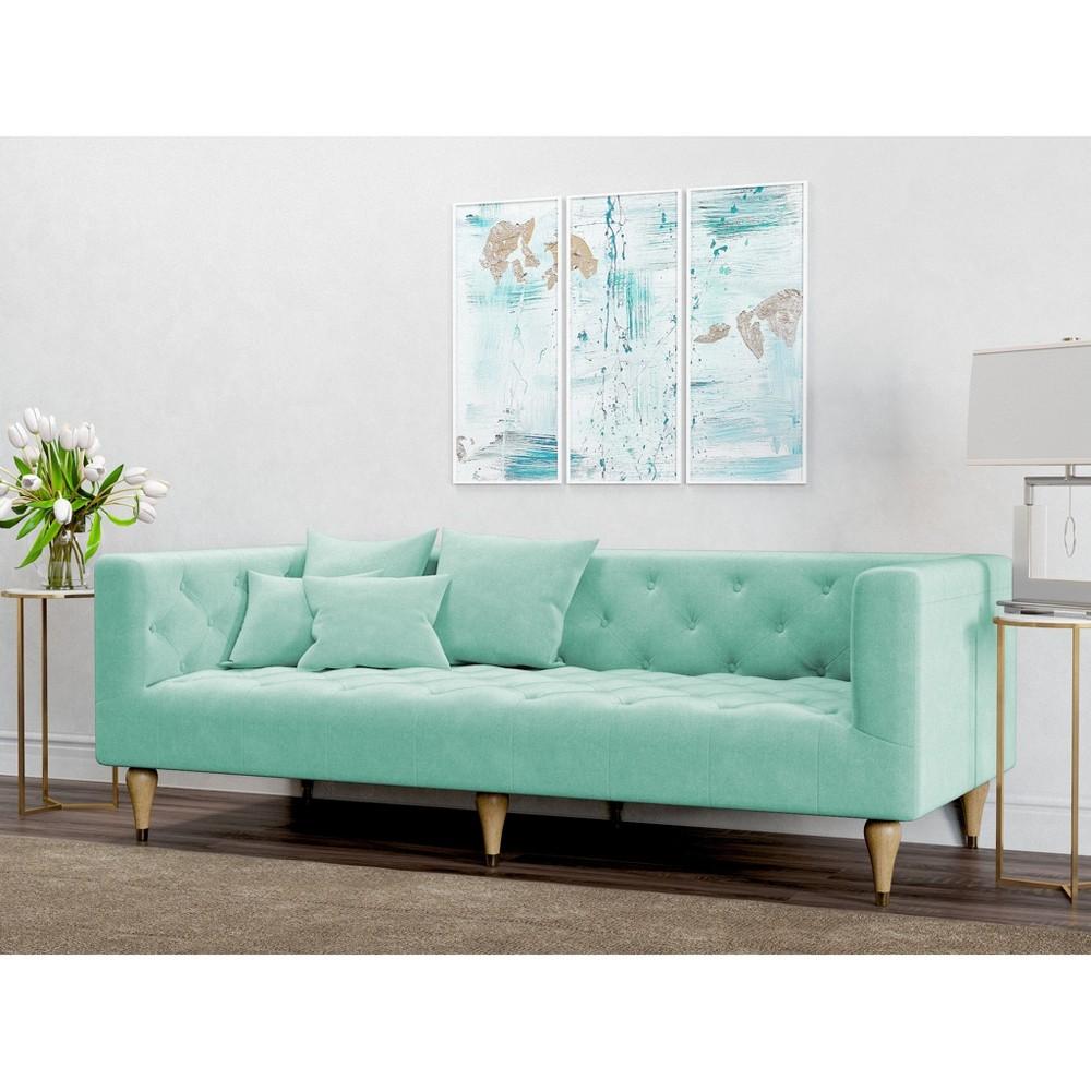 Image of Alan Modern Tufted Sofa Mint Green - AF Lifestyle